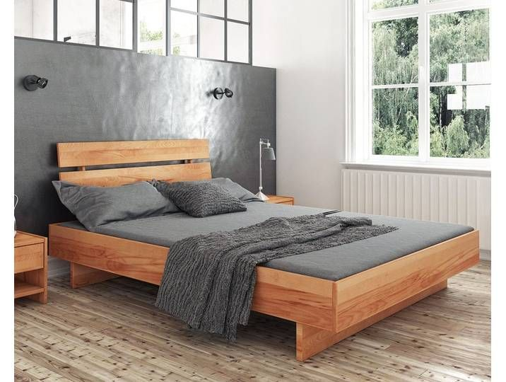 Photo of The Beds Vigo solid wood bed 1302 / 200×200 cm / core beech walnut l