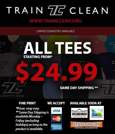 ***WEEKLY CONTEST*** Congratulations again to Ben Christenson who just picked up a FREE Train Clean Hoodie. This week, anyone who shares and likes this photo on facebook will have a chance to win a FREE Train Clean T-Shirt! http://www.trainclean.org/pages/weekly-contest