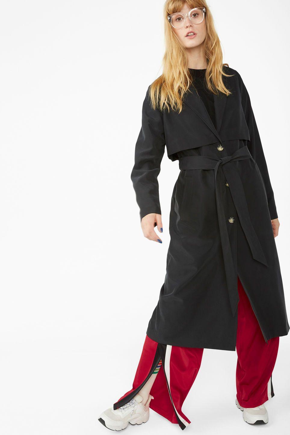 a943bfeb Soft trench coat - Black magic - Coats & Jackets in 2019 | Women's ...