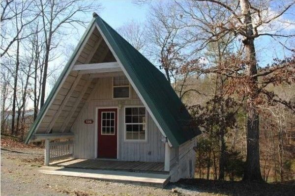 448 Sq Ft Tiny A Frame Cabin For Sale W Land For 15k Tiny House Cabin Tiny Houses For Sale House Cost