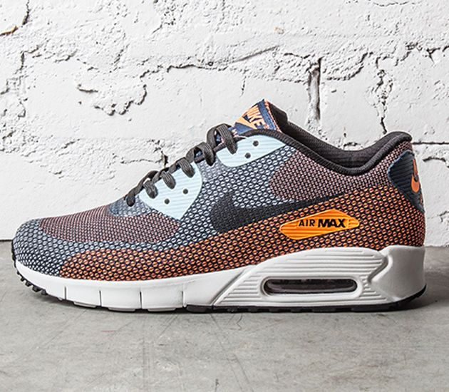 442ac4410dd Nike Air Max 90 Jacquard - Atomic Orange   Squadron Blue