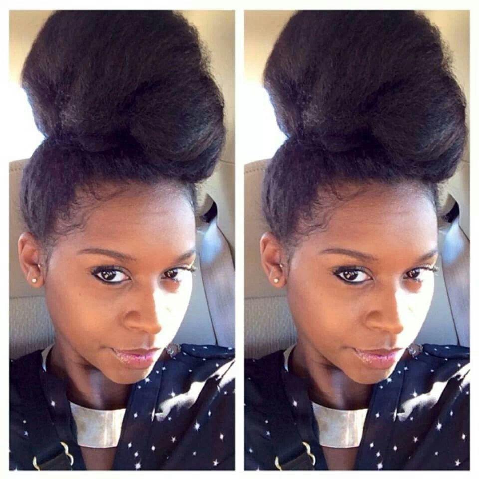 Gorgeous Natural Hair High Bun Natural Hair Bun Styles Hair Styles Natural Hair Styles