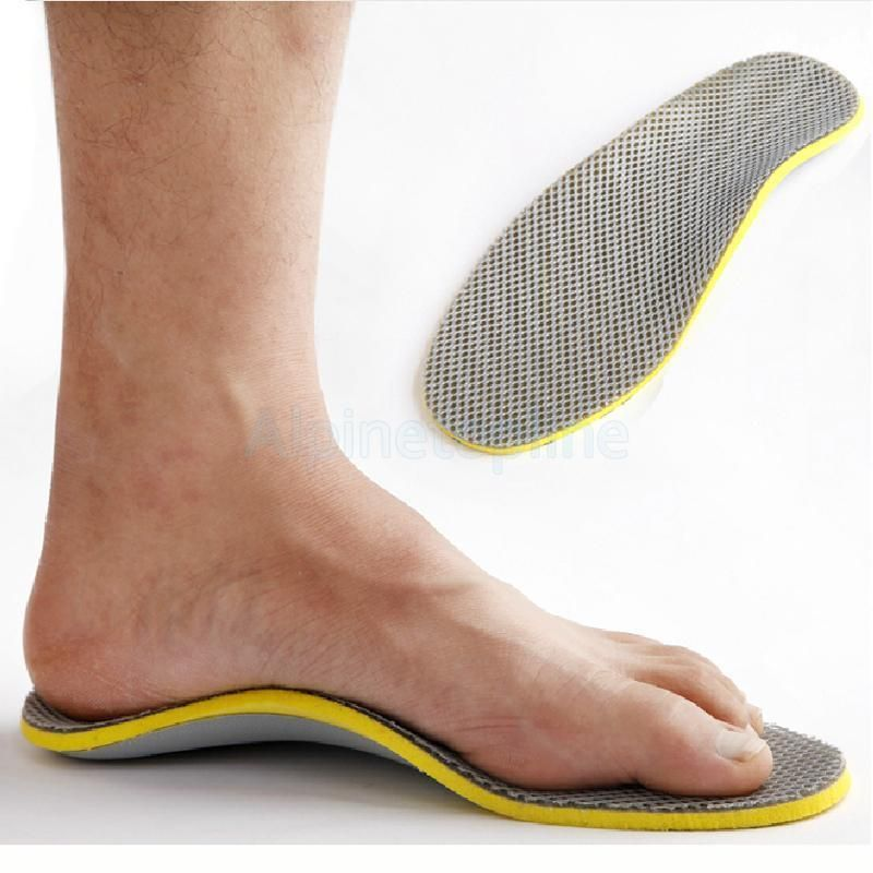 Men/'s Orthotic Insoles Excellent Shock Absorption Shoes Pad for Arch Support