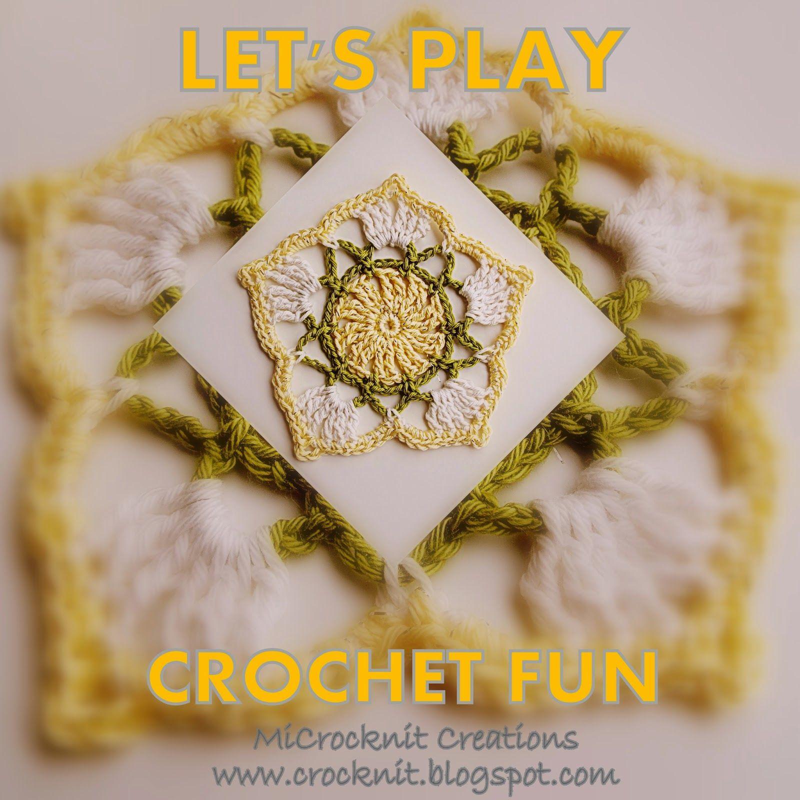 MICROCKNIT CREATIONS: LET\'S PLAY - CROCHET FUN - Free Pattern ...