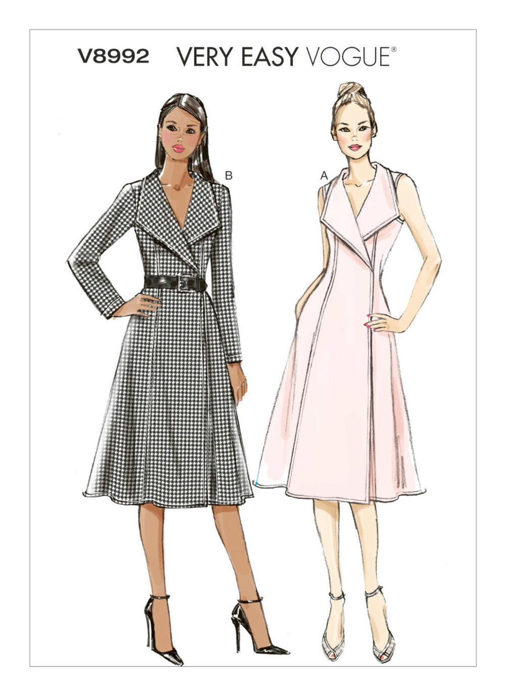 V8992 In 2021 Wrap Dress Sewing Patterns Dress Patterns Vintage Dress Patterns [ 1375 x 1000 Pixel ]