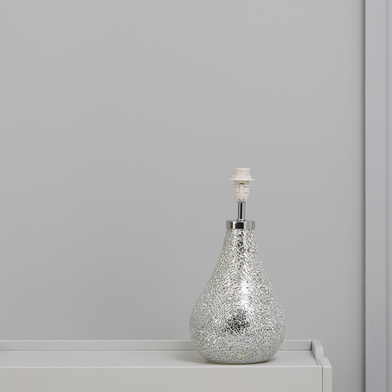 Millina Mosaic Silver Table Lamp Base