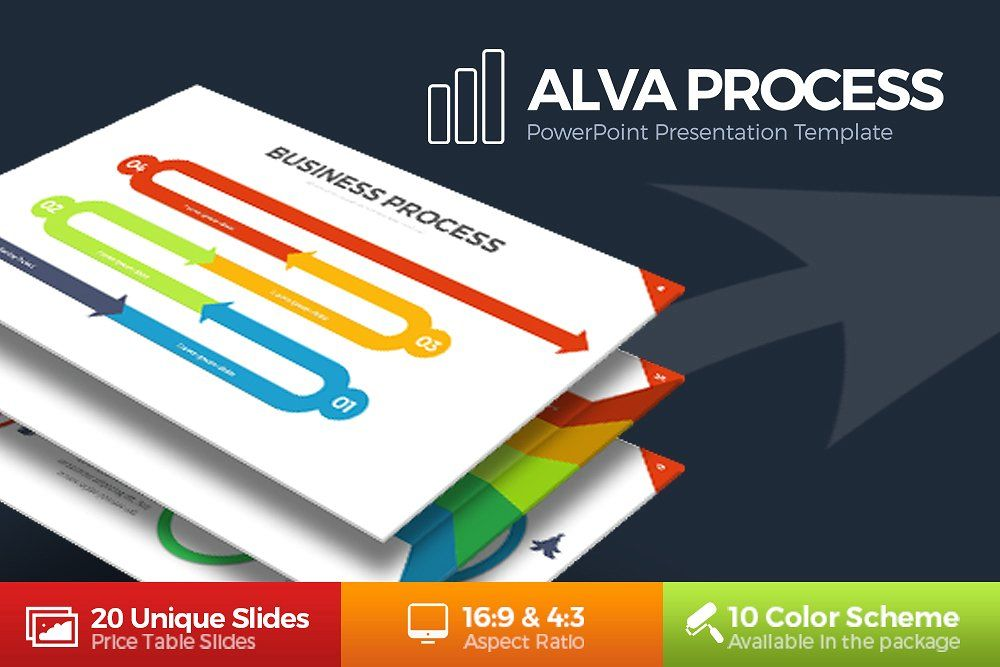 alva process powerpoint template by brandearth on creativemarket