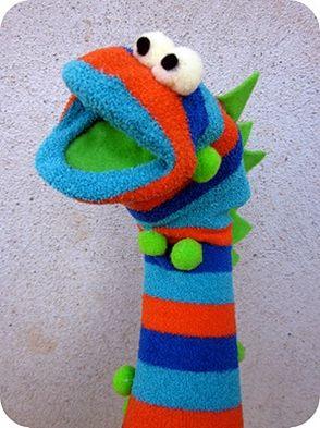 Como hacer t teres de mano con calcet n y fieltro - Como hacer marionetas de mano ...