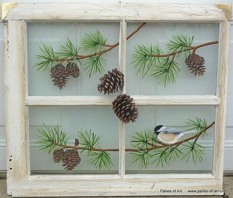 Panes of Art Hand Painted Windows Window Art Decorative Window Panes Old & Panes of Art Hand Painted Windows Window Art Decorative Window ...