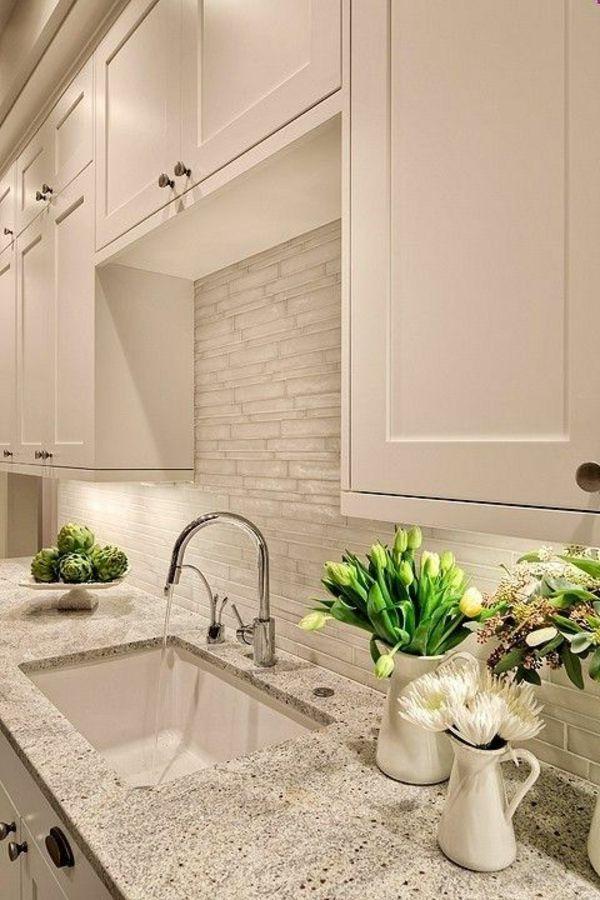 Moderne weiße Küchen - Steinplatte   KÜCHE & ESSEN   Pinterest ...