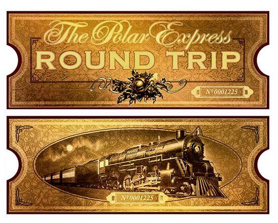 Polar Express film movie reproduction Golden Train by CreativePal  Polar express party, Polar