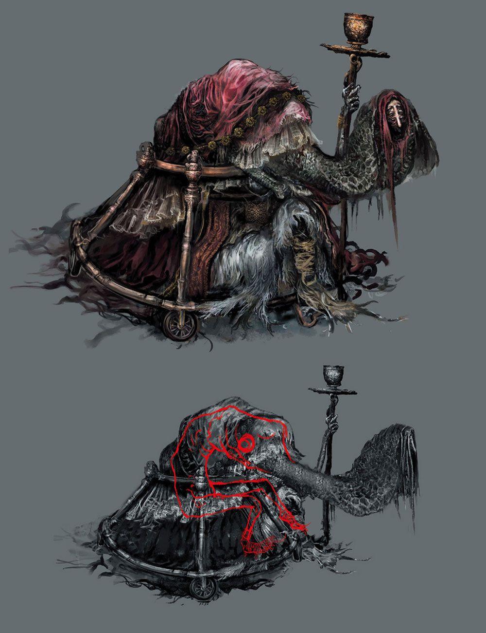 Man Serpent Summoner From Dark Souls Iii Illustration Artwork