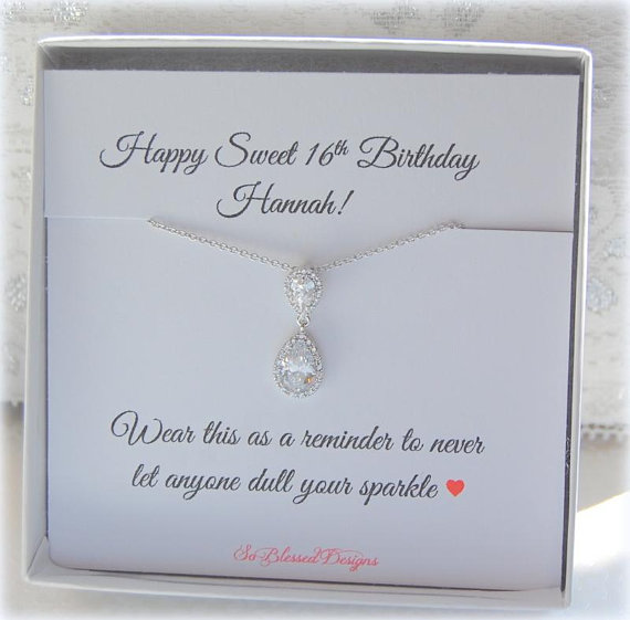 Sweet 16 Birthday Gift For Girls Daughter Granddaughter Jewelry Daughters 16th Unique