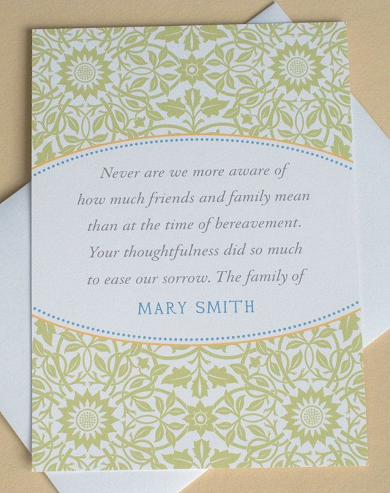 Sympathy Thank You Cards With Beautiful Yellow And White Tulips