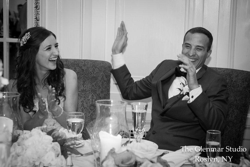 www.glenmarstudio.com #glenmarstudio #weddingphotographers #brideandgroom #cutemoment #laughter #toasts #reception #weddingday