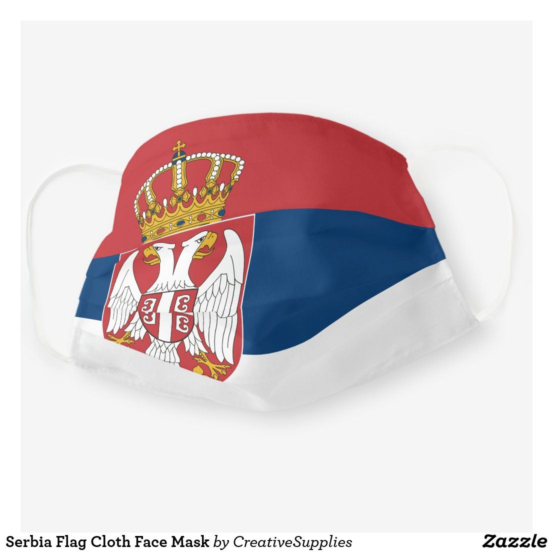 Serbia Flag Cloth Face Mask in 2020 Serbia