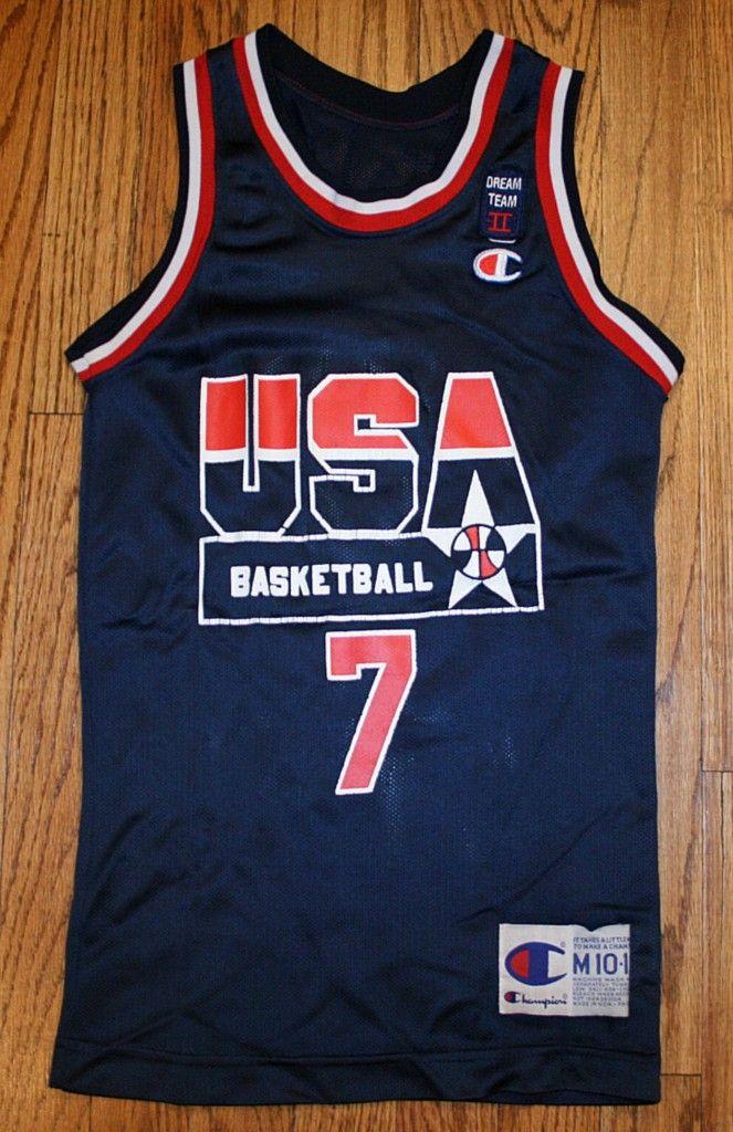 60d4a9ff8a3 Vintage SHAWN KEMP Dream Team II USA BASKETBALL OLYMPIC CHAMPION JERSEY- Youth Medium