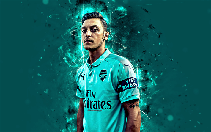 Download Wallpapers Mesut Ozil, 4k, Arsenal, Abstract Art