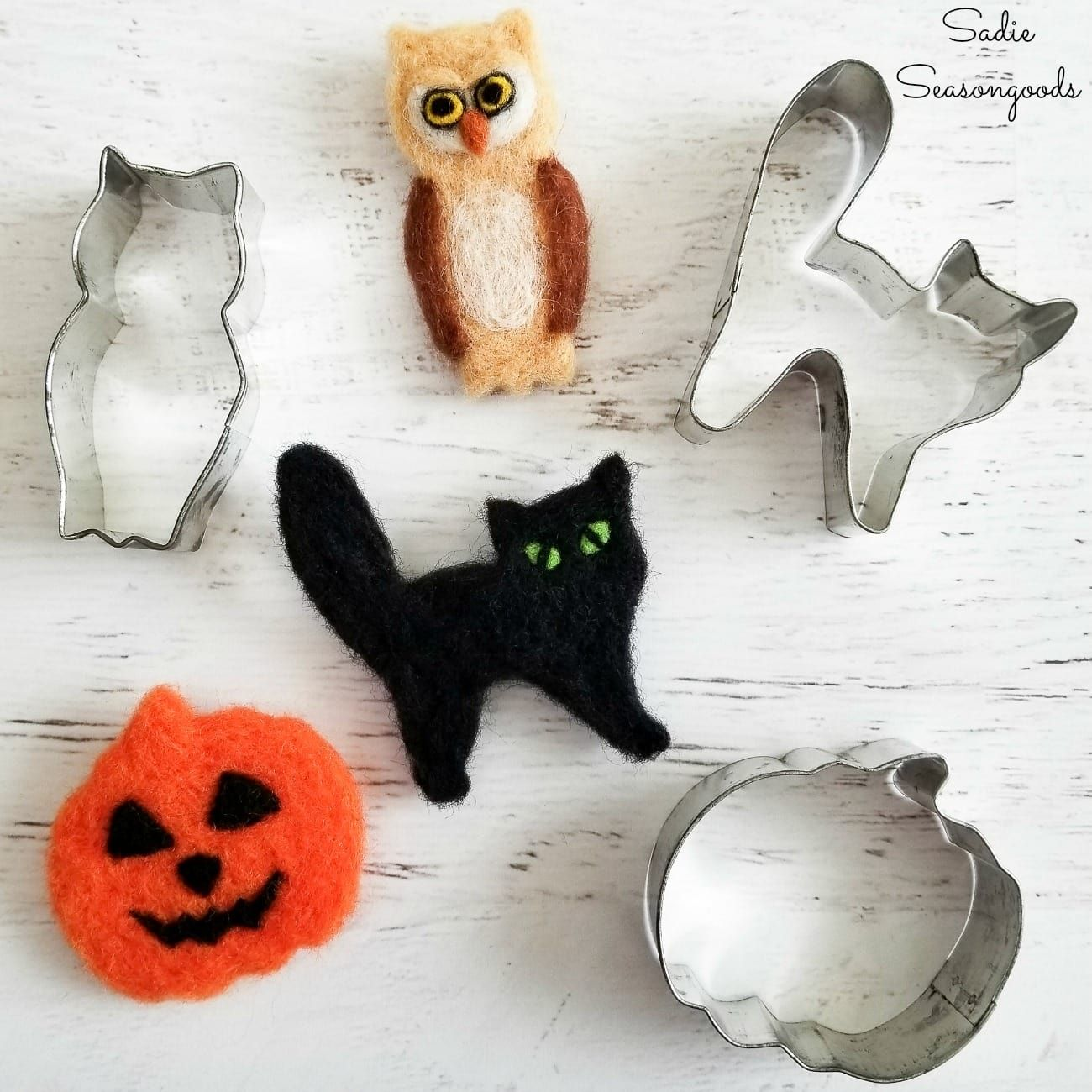 Using Cookie Cutters as Needle Felting Supplies to Create Animal Shapes
