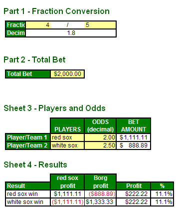 Sports betting arbitrage spreadsheet free total points betting nba playoffs