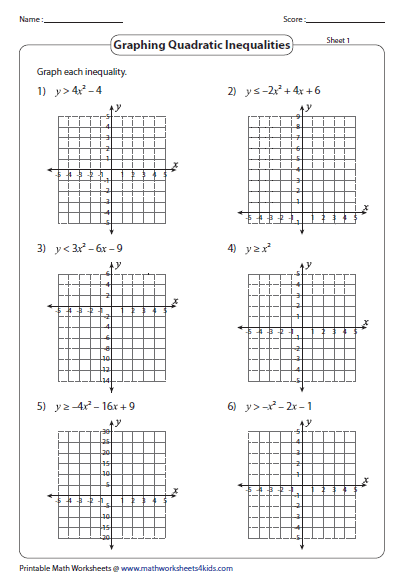 Sketching Quadratic Graphs By Factoring Worksheet