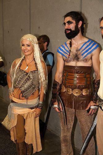 Daenerys targaryen and khal drogo cosplay larping for Daenerys targaryen costume tutorial