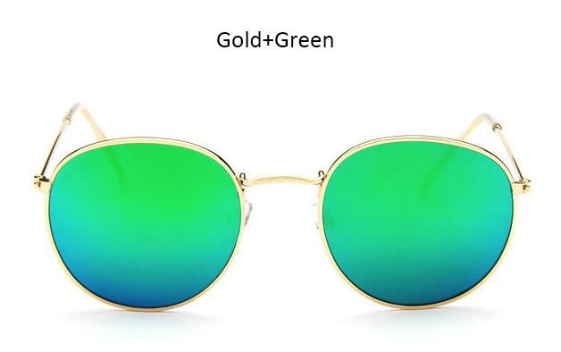 Classic Vintage Small Round Sunglasses Retro Men Women Brand Designer Metal  Pink Mirror Sun Glasses 311bab00c4