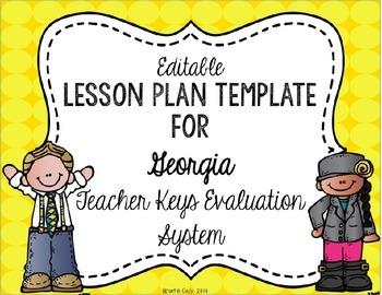 Georgia Teacher Keys Effectiveness System Tkes Editable Lesson