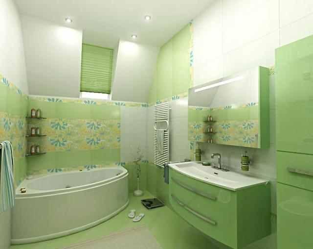 Lime Green Bathroom Tile Designs Shower Patterns