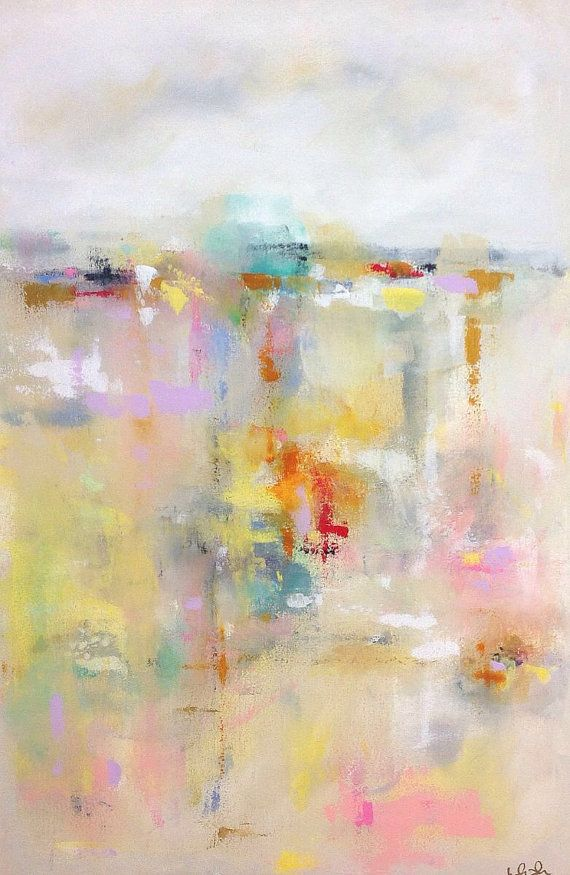 Large Colorful Abstract Landscape Original Acrylic By Lindadonohue Abstract Abstract Art Painting Abstract Art Diy