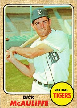 1968 Topps #285 Dick McAuliffe Front