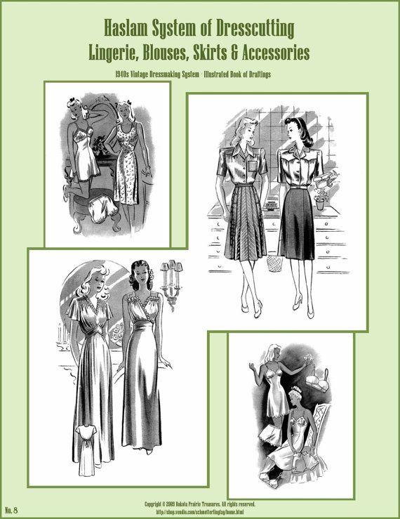 1940s 40s Haslam Draft Pattern Making Book No: 7 (Sewing Drafting ...