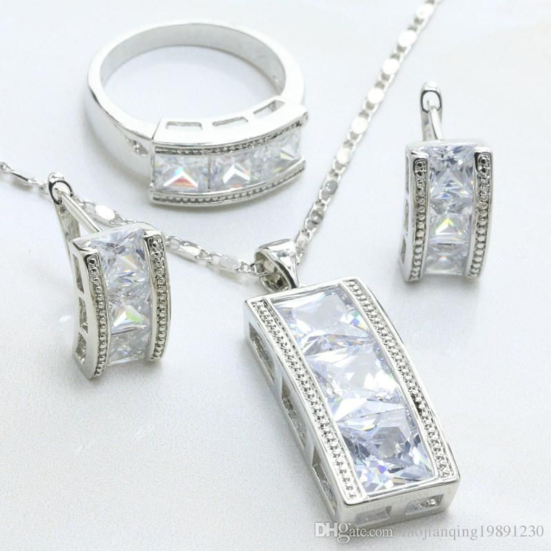 mojianqing19891230 offers lots of amazing bridal jewellery sets, wedding party jewelry and mens wedding band in cheap price. Click our website for fancy and gorgeous fashion women jewelry set 925 sterling silver prong setting white cubic zirconia colored stone ring necklace pendant earrings-s198c with a large variety of choices.