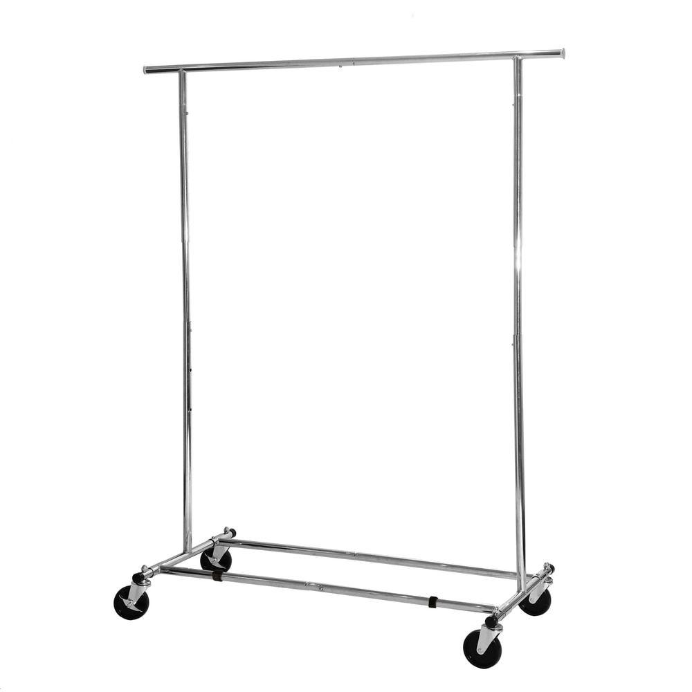 Seville classics silver chrome commercial grade garment rack