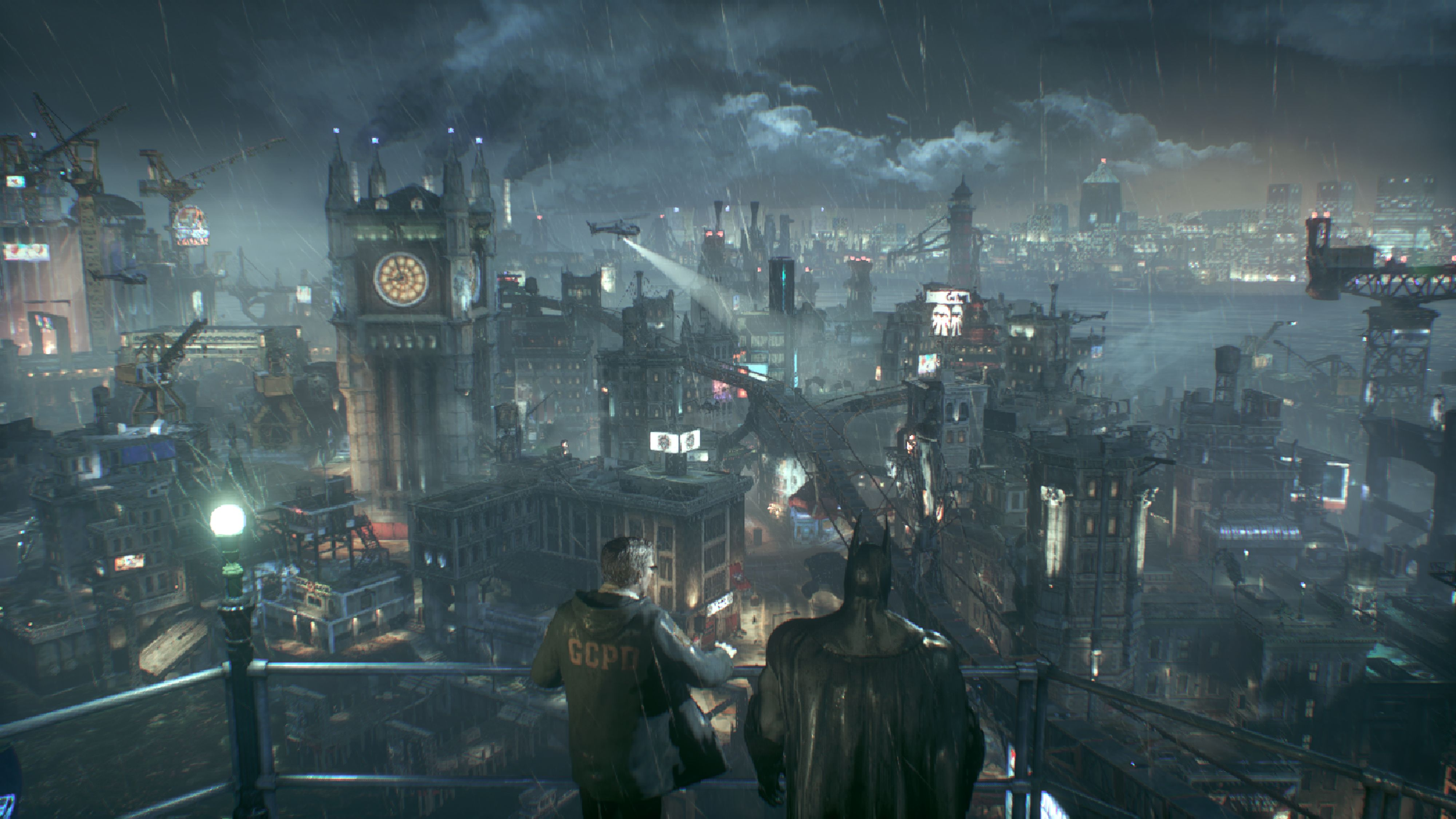 Batman Arkham Knight Meeting Up With Commissioner Gordon On Gcpd