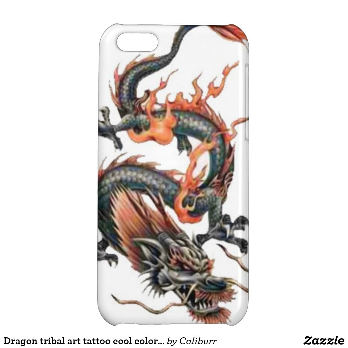 Dragon Tribal Art Tattoo Cool Color Design Iphone 5c Case Broken Glass Circuit Board 5 Zazzle