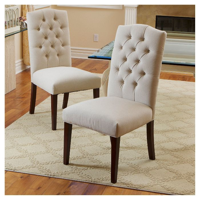 Set Of 2 Crown Top Dining Chairs Christopher Knight Home White Dining Chairs Parsons Dining Chairs Fabric Dining Chairs