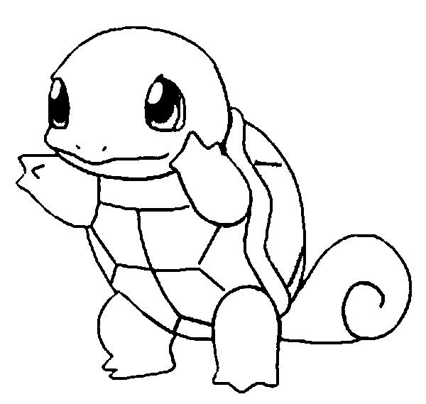 Squirtle Coloring Pages Pokemon Coloring Pages For Kids Pokemon