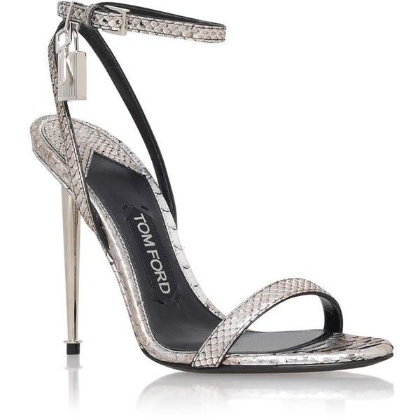 95f84f1136 TOM FORD Maison Padlock Python Sandal featuring polyvore women's fashion shoes  sandals heels metallic heel sandals bridal shoes party sandals party shoes  ...