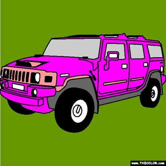 New Hummer H2 SUV coloring page! Color lots of different SUVs ...