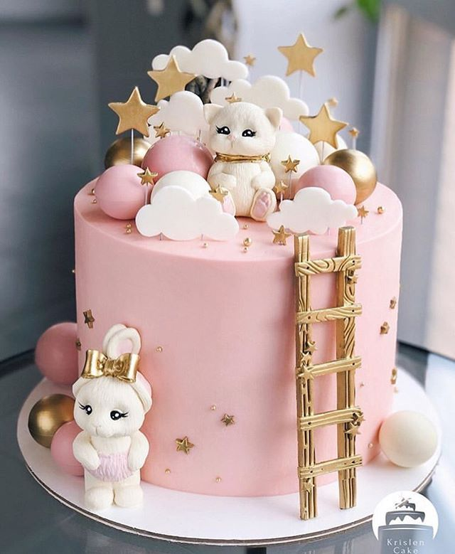 Cute Cake Ideas For Teenager Girls Birthday Cocomew Is To Share Cute Outfits And Sweet Funny Baby Birthday Cakes Baby Girl Birthday Cake Cute Birthday Cakes