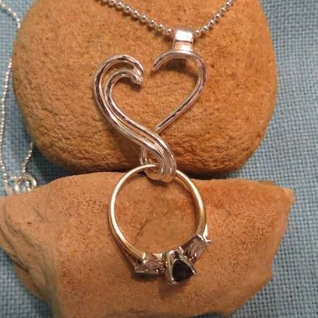 wedding ring holder necklace google search - Wedding Ring Necklace