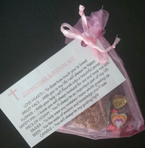 GODMOTHER Survival Kit GIFT For GODPARENTS CHRISTENING