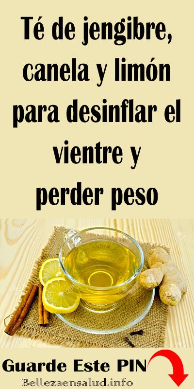 agua con limon y jengibre para bajar de peso