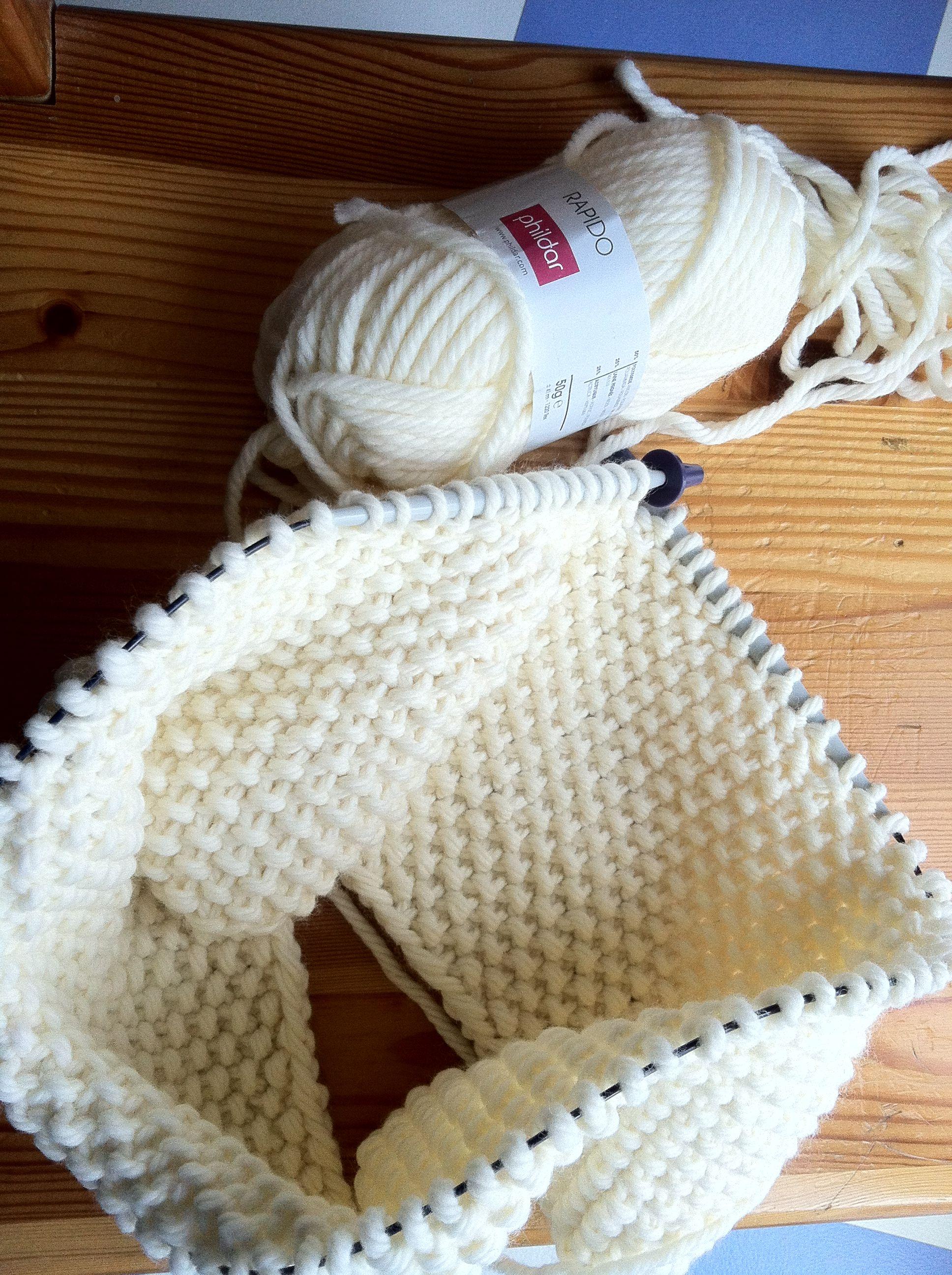 tricoter un snood aiguille circulaire   tricot   Tricot, Tricot circulaire et Snood tricot