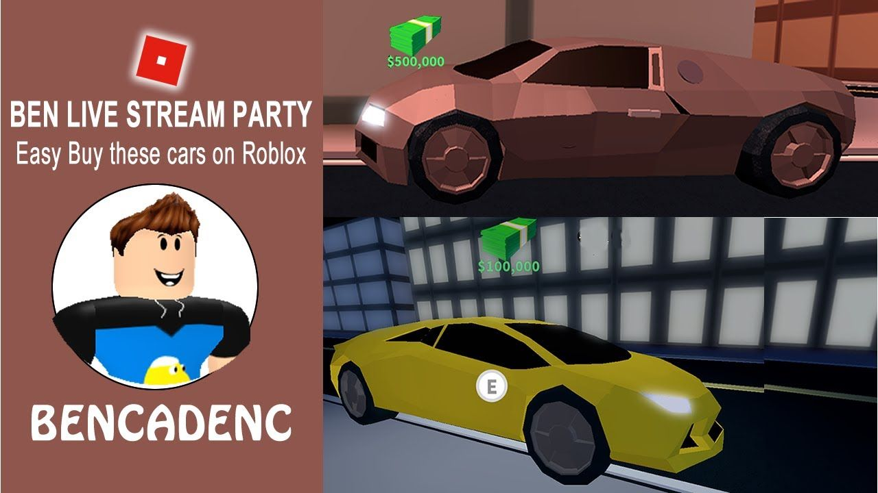Ben live stream party lets play roblox jailbreak how to buy lamborghini and bugatti roblox robloxdev robloxart youtubegaming youtube giveaway sub
