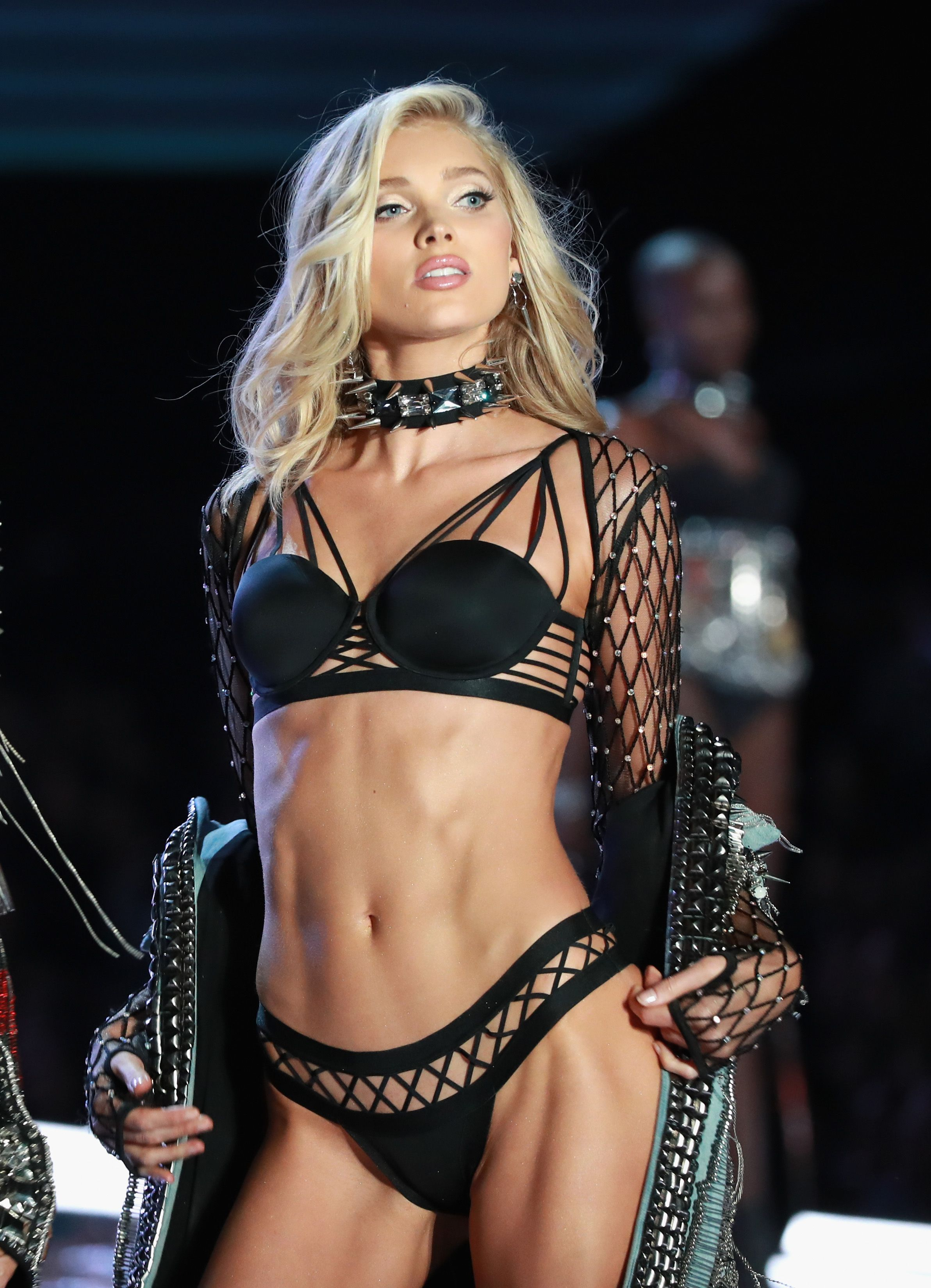 95f46f0b Elsa Hosk walks the runway in Balmain x Victoria'S Secret, embellished with  crystals from Swarovski at the 2017 Victoria's Secret Fashion Show at ...