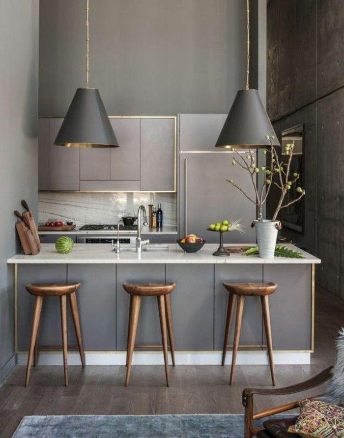 La cuisine équipée avec îlot central - 66 idées en photos - Archzine ...
