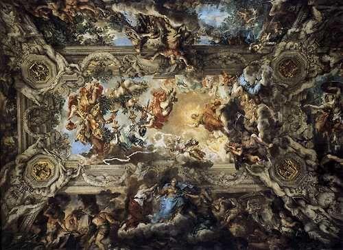 Triunfo de la Divina Providencia, fresco de Pietro da Cortona. Italia.