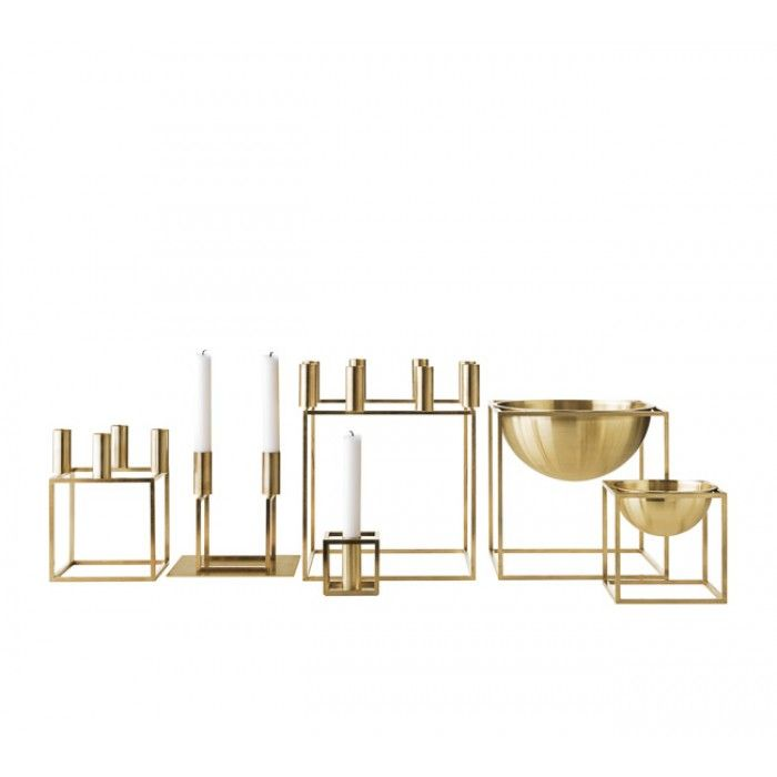 BY LASSEN Kubus 1 Candle Holder Brass